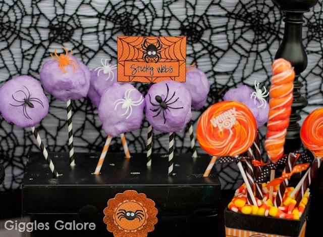 Halloween suikerspin spinnen