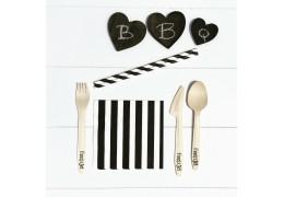 Goed idee: Papieren bordjes en houten bestek met de BBQ!